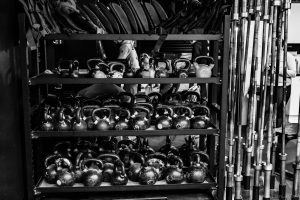 kettle bells and bars